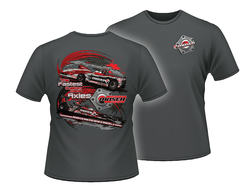"Shirt 14 - ""Moser Race Team"" Gray Tee Shirt"
