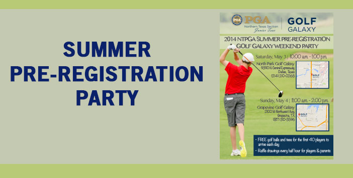 Summer Pre-Registration Party