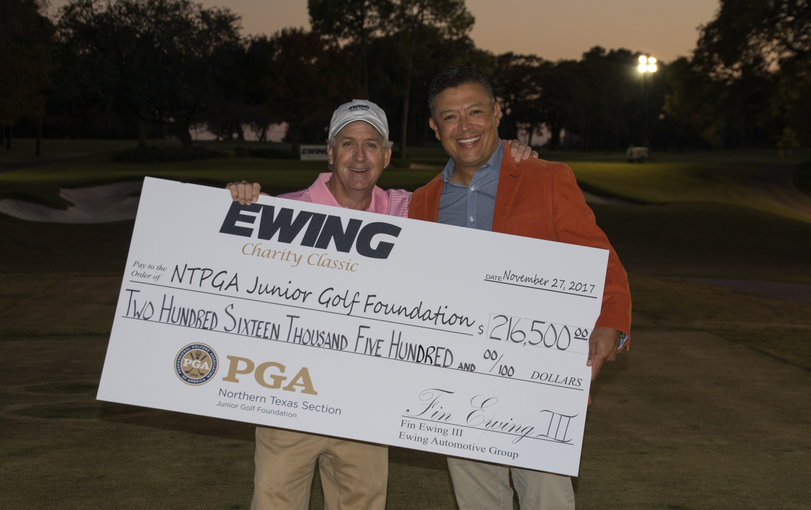 Ewing Charity Classic Benefits NTPGA Junior Golf Foundation, PGA Professional Takes Home Car Thanks to Ewing Automotive Group