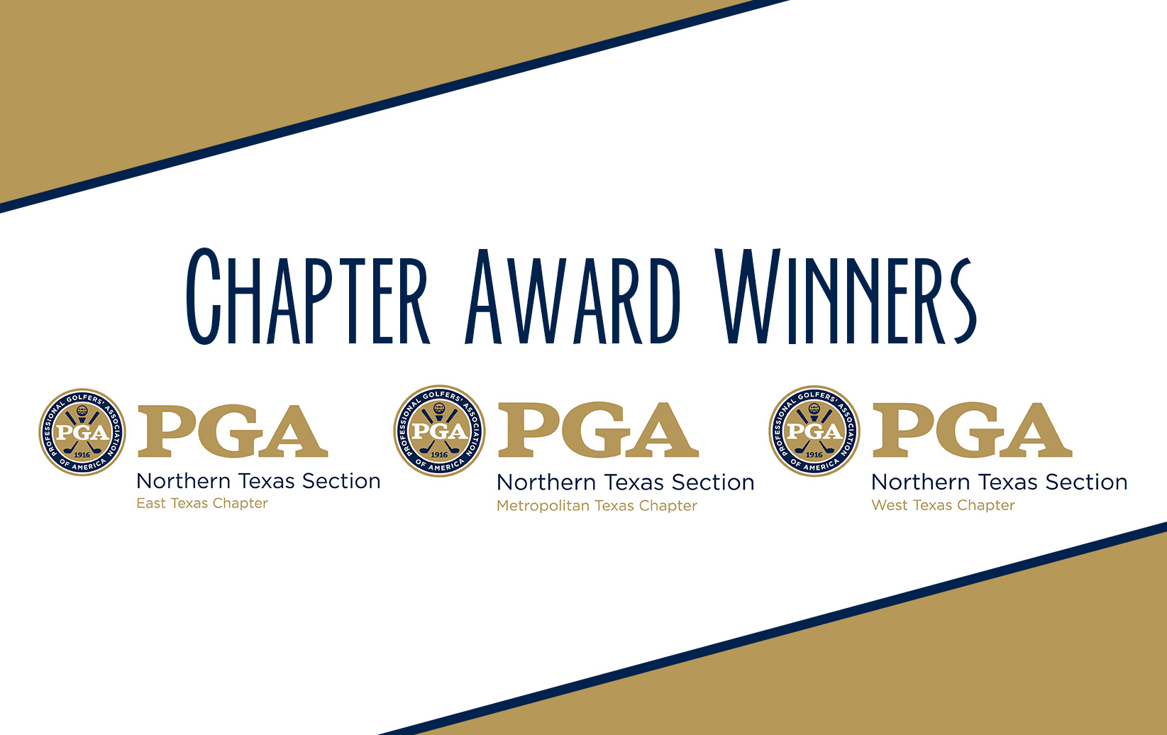 2017 Northern Texas PGA Chapter Award Winners Announced