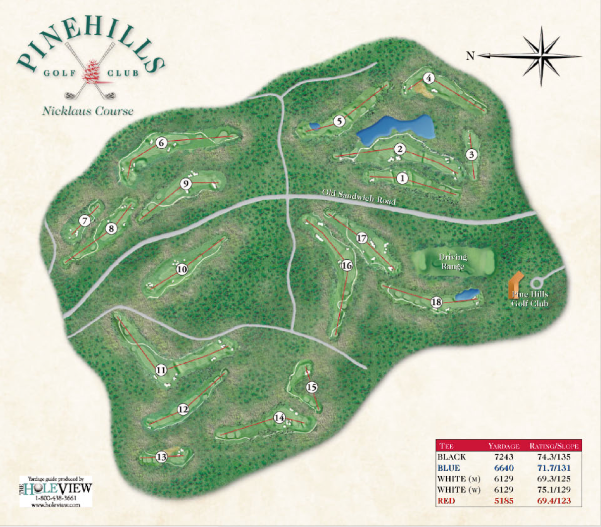 pinehills golf club yardage books