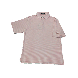 Crimson/White Striped Rock Creek Logo Shirt