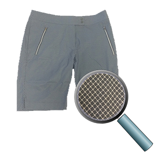 Cutter and Buck Womens plaid gray short