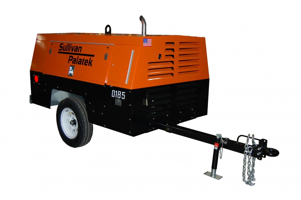 Sullivan Pallatek 185 CFM Towable Diesel Air Compressor