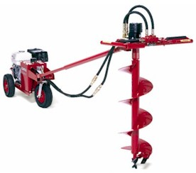 Little Beaver Gas One-Man Post Hole Digger Earth Drill Auger Rental