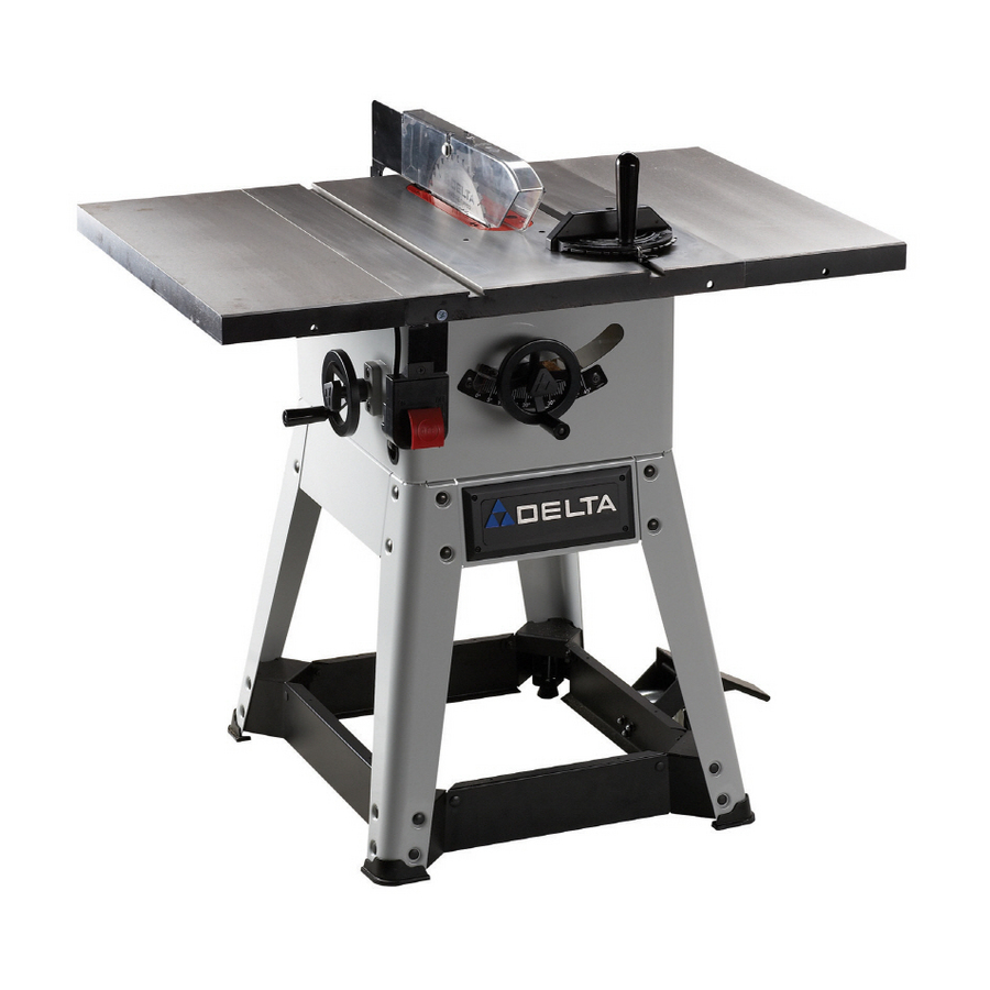 delta 10 professional contractor cast iron table saw