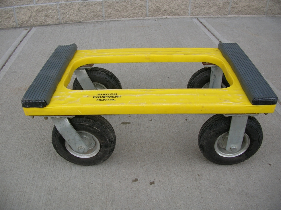 4 WHEEL DOLLY AIR TIRES