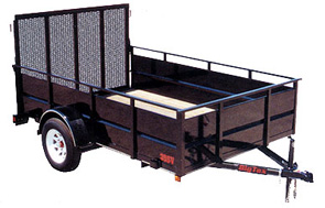 TRAILER 6&#039;X12&#039; OPEN SINGLE AXLE