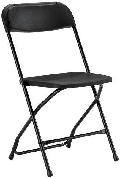 BLACK ALUMINUM FOLDING CHAIR