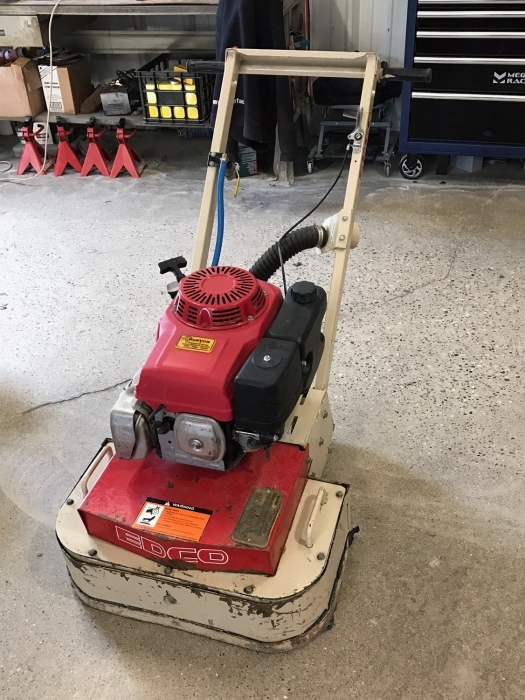 edco gas dual disc concrete floor grinder - runyon surface prep supply
