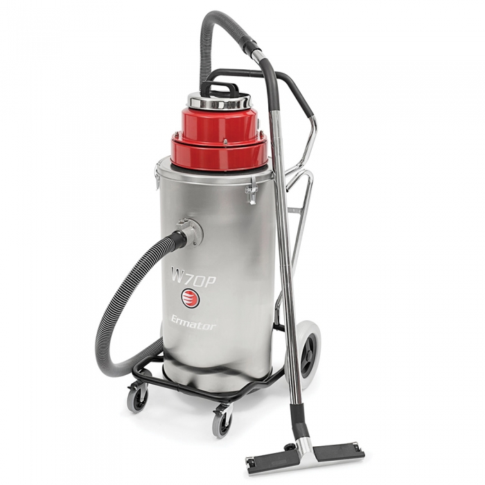 Pullman ermator w70p single phase slurry industrial wet for Best vacuum cleaner for concrete floors