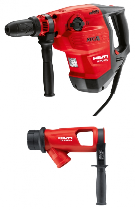 Hilti TE 70-ATC/AVR Combihammer with TE DRS-Y Dust Control Attachment