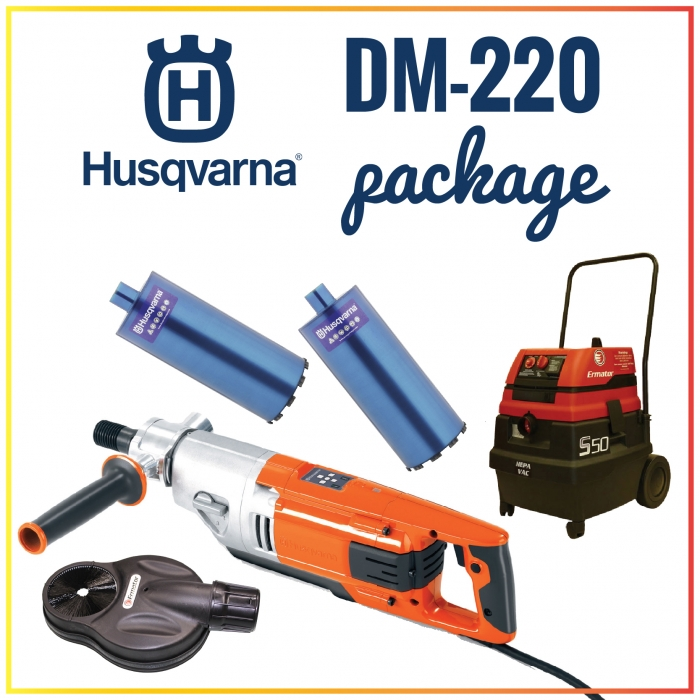 Husqvarna DM-220 Hand-Held Core Drill Package
