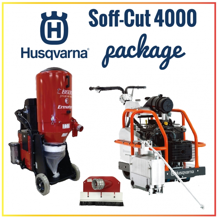Husqvarna Soff-Cut 4000 Self-Propelled Gasoline Saw Package