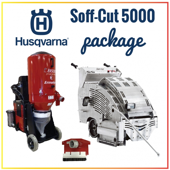 Husqvarna Soff-Cut 5000 Self-Propelled Gasoline Saw Package