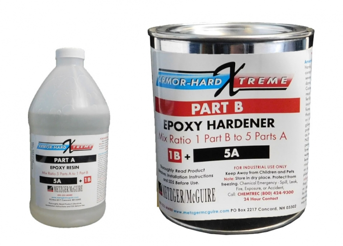 Metzger/McGuire Armor-Hard Extreme Epoxy Liquid 1 Gallon Unit