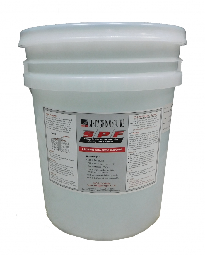 Concrete Epoxy Joint Filler : Metzger mcguire epoxy joint filler stain prevention film