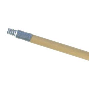 "Midwest Rake 60"" x 15/16"" Metal Threaded Tip Wood Handle"