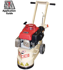 "edco 10"" gasoline 11 hp turbo concrete floor grinder - runyon"