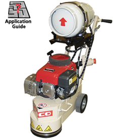 edco turbo concrete floor grinders in propane, electric or