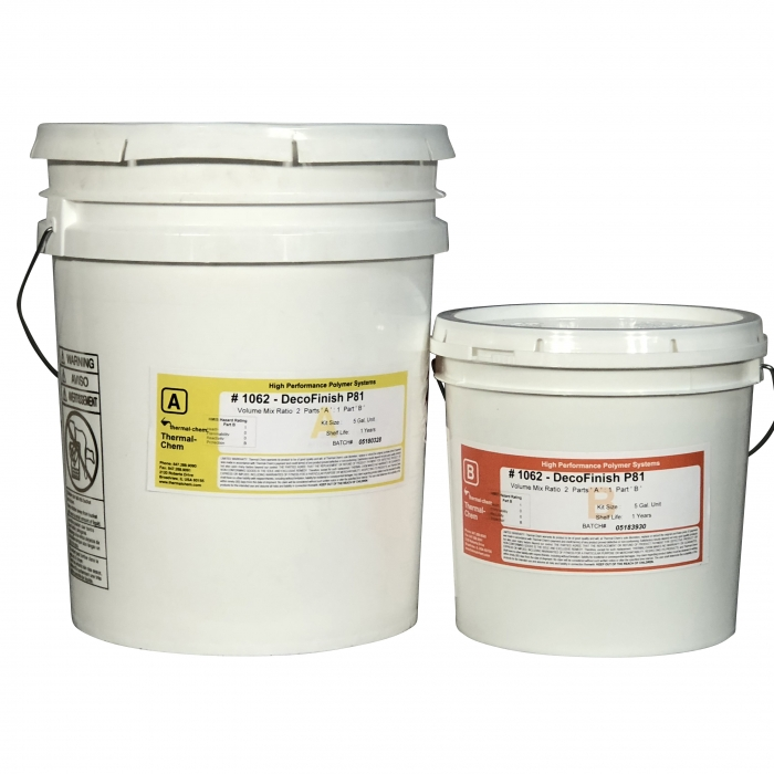 Thermal-Chem DecoFinish 1062 Clear Polyaspartic (5 Gal Kit)