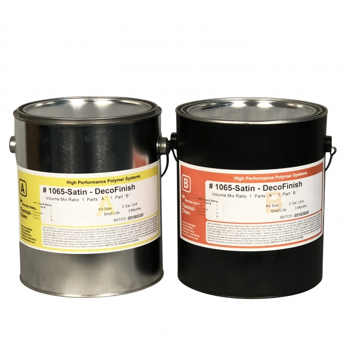 Thermal-Chem DecoFinish 1065 Clear Satin Urethane (1-1/3 Gal Kit)