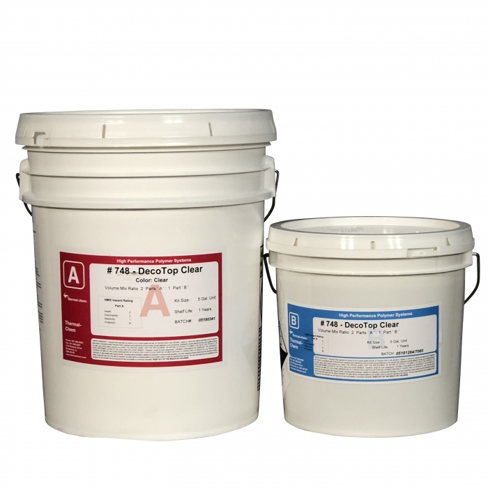 Thermal-Chem DecoTop 748 Clear Epoxy (5 Gal Kit)