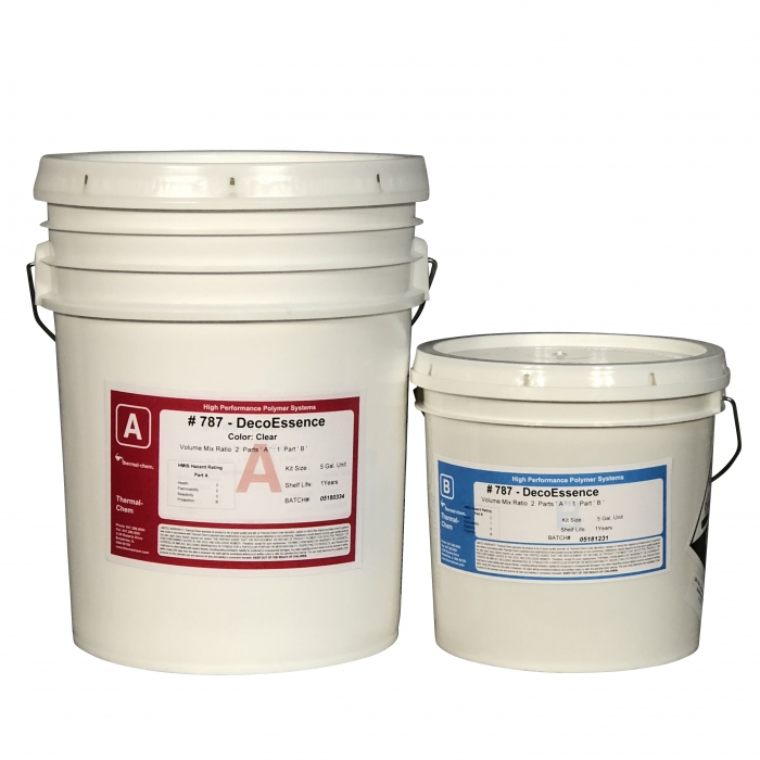 Thermal-Chem DecoEssence 787 Clear Epoxy (5 Gal Kit)