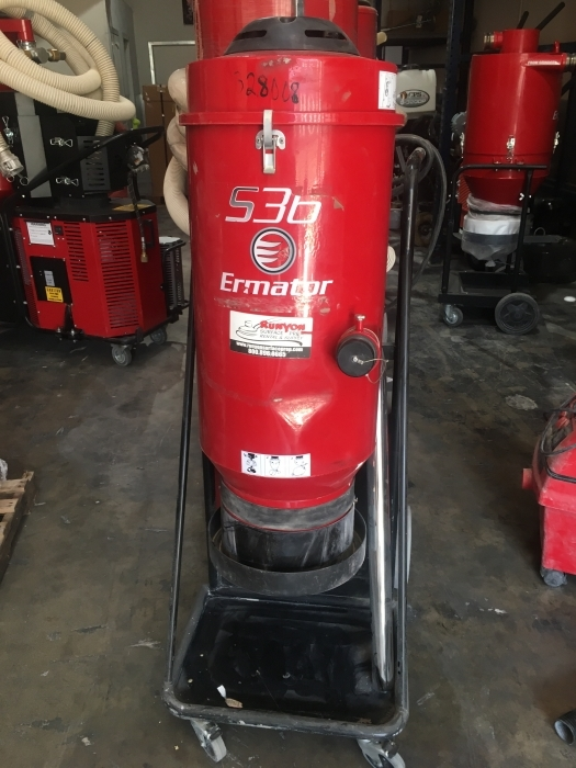 USED Pullman Ermator S36 Single-Phase 230 Volt HEPA Dust Extractor (169.6 Hours)