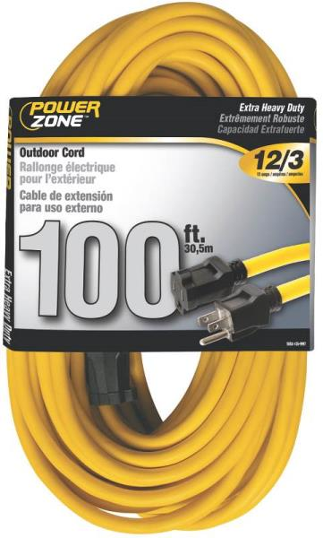 Powerzone 12/3 100 Extension Cord
