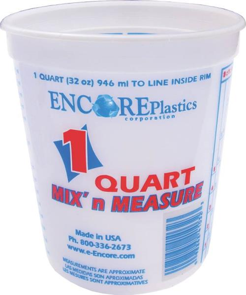 1 QT Mix-N-Measure Disposable Plastic Paint Container