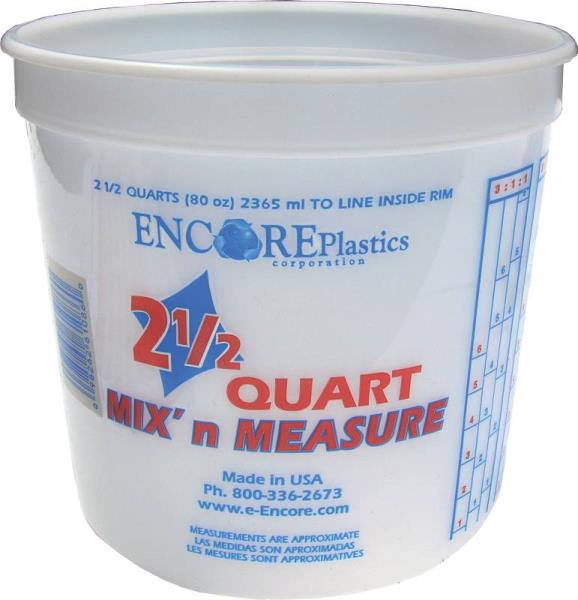 2.5 QT Mix-N-Measure Disposable Plastic Paint Container