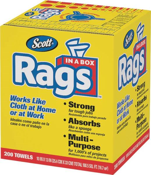 Multi-Purpose Rags In A Box - 200 ct