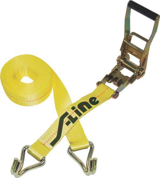 "2"" x 27"" Ratchet Strap with J-Hooks"