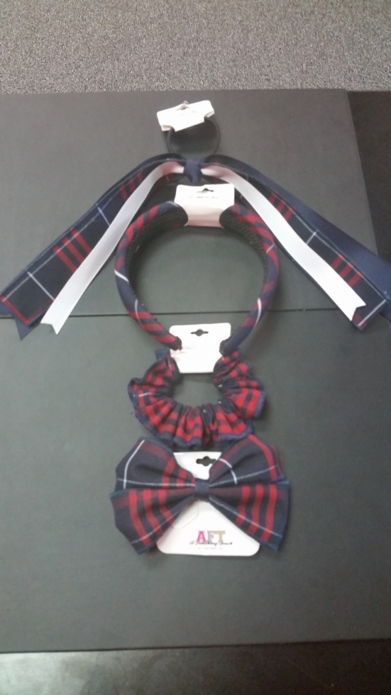 Navy & Red Plaid Accessories