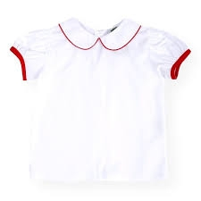 Red Lined Peter Pan Blouse