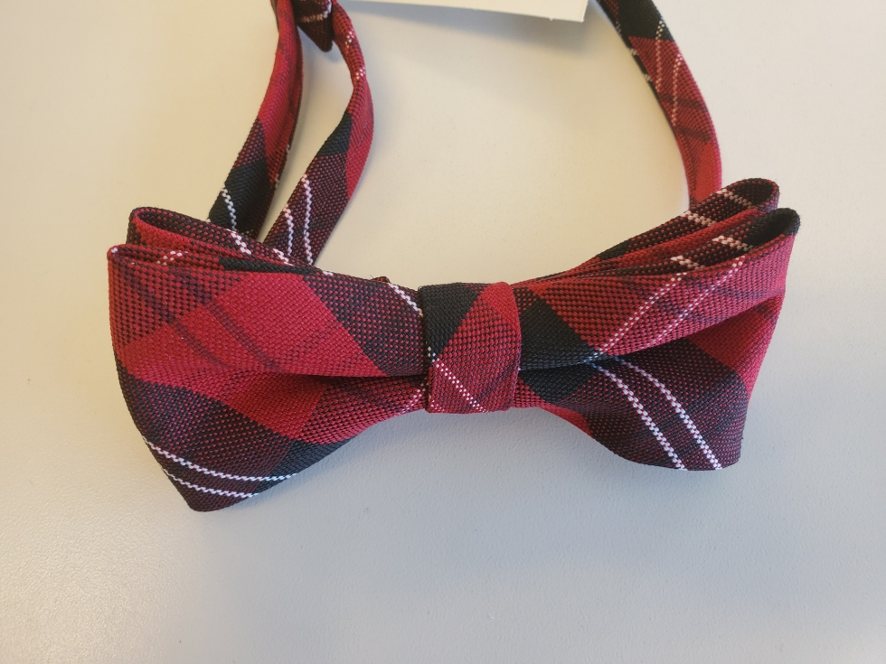 Plaid #70 (Black & Red) Bow Tie For Boys
