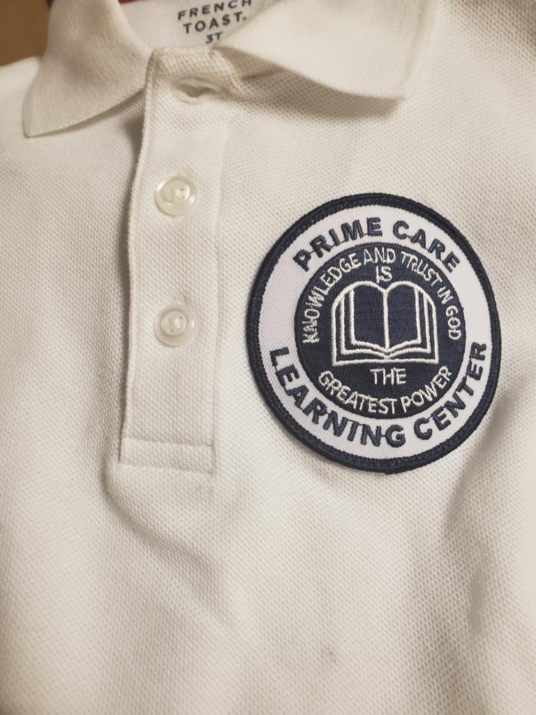 Prime Care White Polo Shirt