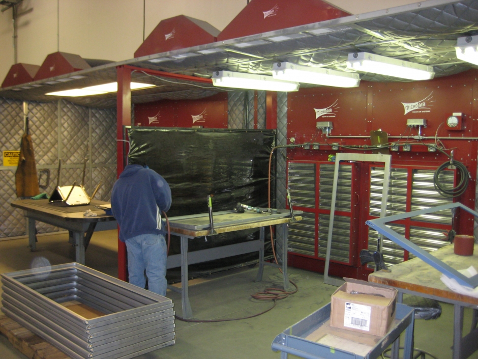 how to build a welding booth