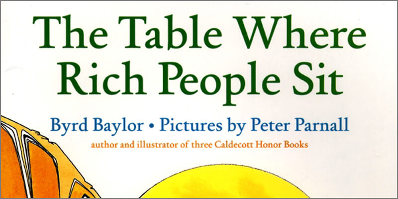 Six Traits Mentor Texts Trait of Ideas The Table Where Right People Sit