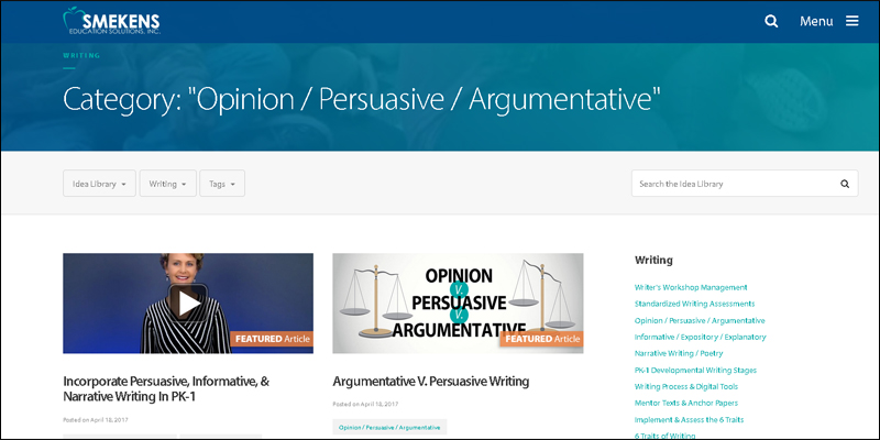 Opinion/Persuasive/Argumentative