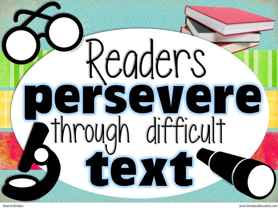 Readers presevere through difficult text