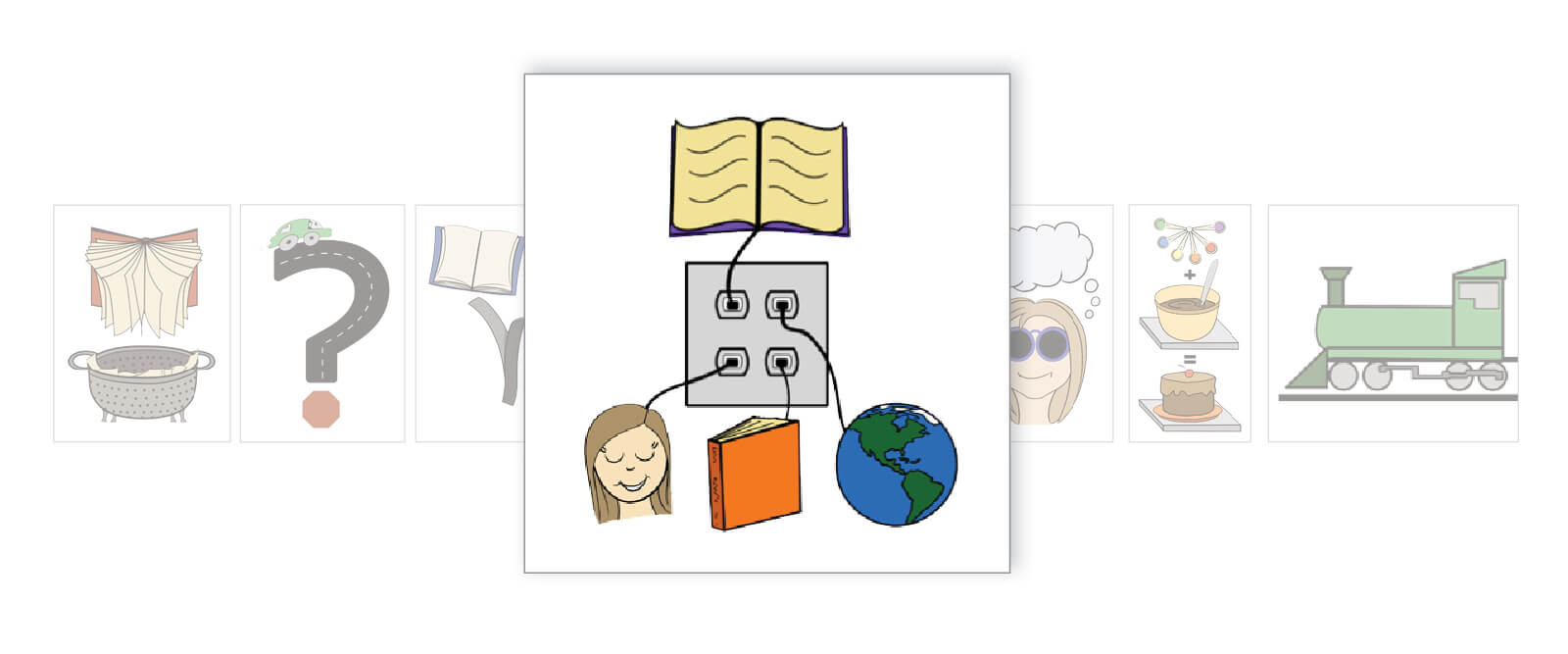 Reading Comprehension Making Connections Icon