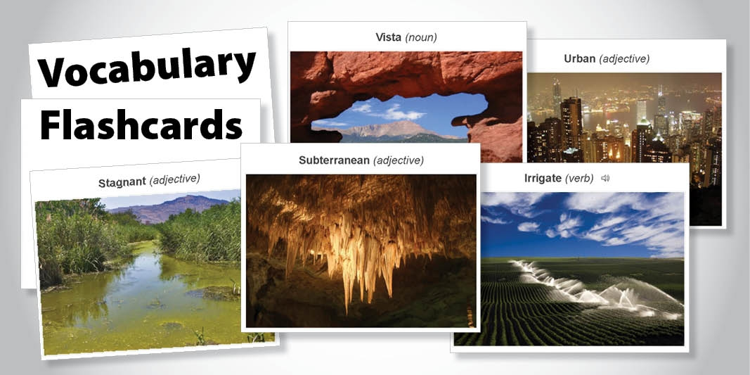 Access Visual Flashcards to Improve Students' Vocabulary