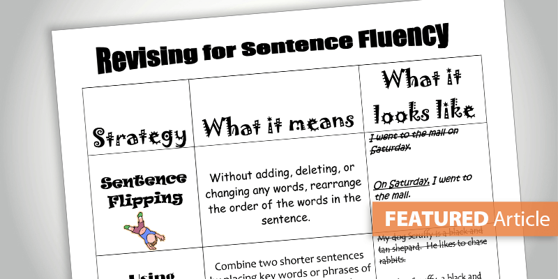 Boost Writers' Sentence Fluency with Specific Strategies