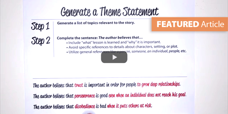 Differentiate Between Themes and Topics