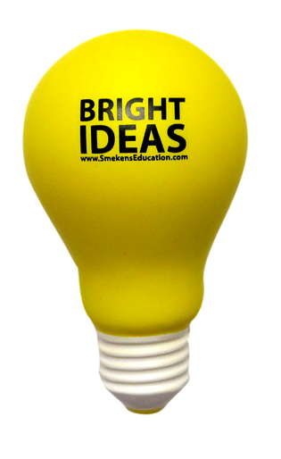 Smekens Education Bright Ideas Light Bulb 6-Traits Icon for Ideas