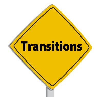 Transitions are Road Signs for Readers