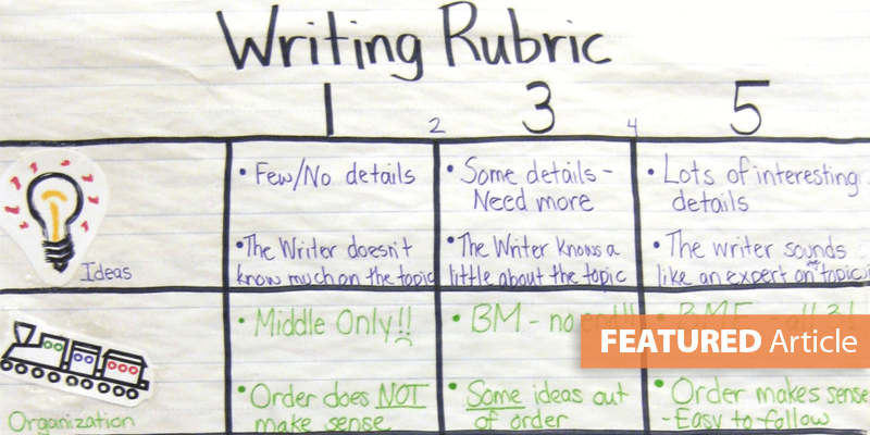 Building Kid-Friendly Writing Rubrics