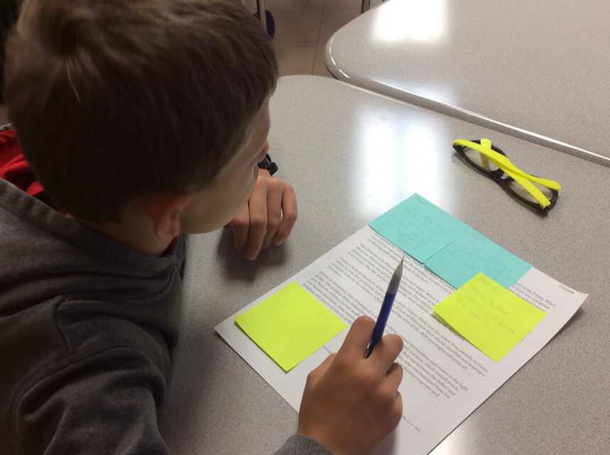 Collecting textual evidence